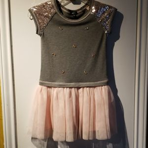 Zunie Sequin Dress with Tule Skirt